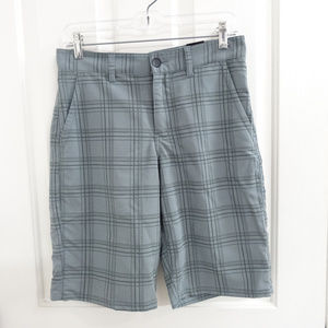 Tony Hawk Quiet Shade Gray Plaid Shorts